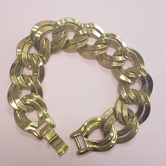 Monet gold tone link chunky bracelet